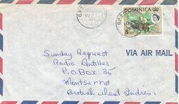 Dominica 1965 Rosseau Canoe Overprint Associated Statehood Cover - Dominica (1978-...)