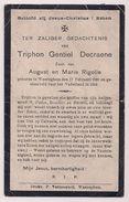 Triphon Gentiel DECRAENE - Rigolle - Waregem - Gesneuveld Soldaat Eerste Wereldoorlog - 1892 / 1914 - Obituary Notices