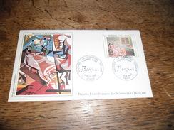 Enveloppe Premier Jour D'émission, Balthus La Chambre Turque, 6 Novembre 1982, Dessin Original D'après Balthus - Autres