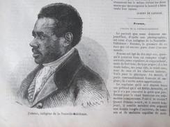 GRAVURE 1857. Nouvelle Calédonie   Indigène Zemma - Nouvelle Calédonie