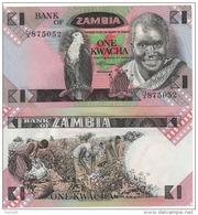 ZAMBIA   1  KWACHA      P23a     ND  1980-88   UNC - Zambia
