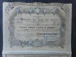 CHEMINS De FER Du MIDI 1923 - Chemin De Fer & Tramway
