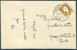 1912 Iceland Beauty Postcard 3 Aur Jon Sigurdsson Reykjavik Local Useage - Covers & Documents
