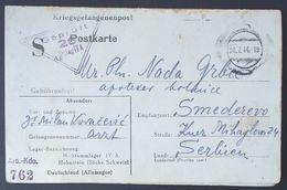 CP Double Prisonnnier De Guerre Médecin STALAG IV A Grand S Imprimé + Cachet Arb Kdo 762 > Smederevo Serbie Juil 1944 - WW II