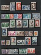 FRANCE - ANNEE COMPLETE 1951 - 41 Timbres Neufs Luxe** Du N° 878 Au N° 918. Voir Descriptif. - 1950-1959