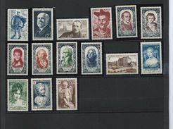 FRANCE - ANNEE COMPLETE 1950 - 15 Timbres Neufs Luxe** Du N° 863 Au N° 877. Voir Descriptif. - 1950-1959