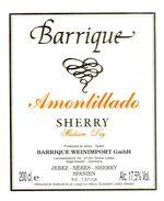 1369 - Espagne - Andalousie - Barrique - Amontillado Sherry Medium Dry - Barrique Weinimport GmbH Algermissen - Etiquettes