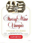 1370 - Espagne - Andalousie - Sherry Wine Vinegar - Vinagre De Jerez - Moloma Wine Co. Kerez - Etiquettes