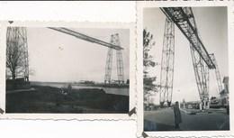 Lot De 2 Photos Amateurs - Rochefort - Transbordeur (1939) - Lieux