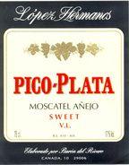 1373 - Espagne - Andalousie - Pico-Plata - Moscatel Añejo Sweet V.L. - López Hermanos - Barón Del Rivero - Canada - Etiquettes