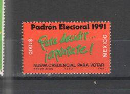 Messico PO 1991 Per Votare Scott.1685+ See Scans Nuovi - Mexico
