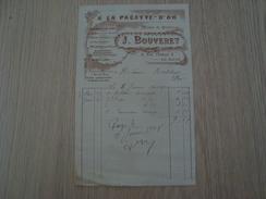 FACTURE A LA PALETTE-D'OR J BOUVET LE MANS 1906 - France