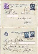 Biglietti Postali Da 5 Lire (n° 2) Rif. FIL B39 - 6. 1946-.. Repubblica