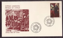 JZ252  Cyprus 1976  Bicentenary Of The American Independence FDC - Cyprus (Republic)