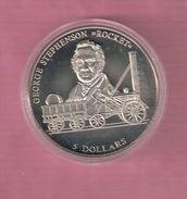 LIBERIA 5 DOLLARS 2000 UNC GEORGE STEPHENSON ROCKET TRAIN - Philippines