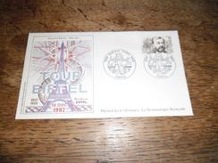 Enveloppe Premier Jour D'émission, Gustave Eiffel 1832-1923, 18 Décembre 1982, Dessin Original Marie Noëlle Goffin - Autres