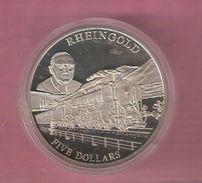 LIBERIA 5 DOLLARS 2001 UNC RHEINGOLD TRAIN - Philippines
