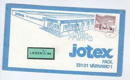 1975 LOSEN 30 Ore POST DUE LABEL On SWEDEN Illus ADVERT COVER  JOTEK For Beautiful Homes, Stamps - Sweden