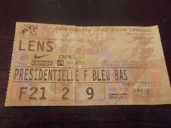 FOOTBALL - Ticket Ligue 1 - PSG PARIS - RCL LENS - 1999 20001 - Habillement, Souvenirs & Autres