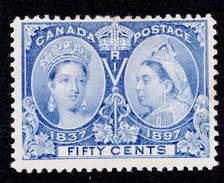 Canada 1897 Jubilee MH 50с SG 135 Cat £200 - Unused Stamps