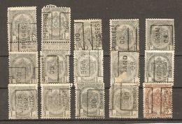 Belgique - 1900/9 - POB à Roulette - Petit Lot De 15 Timbres° - COB 81/82 - Alla Rinfusa (max 999 Francobolli)