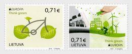 LITHUANIA 2016 Europa 2016 - Think Green - Set - Lithuania