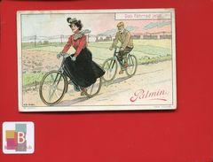 PALMIN JOLIE CHROMO ILLUSTRATEUR  SCHON VOYAGE BICYCLETTE VELO - Chromos