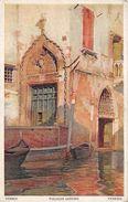 2 Postcards - Venezia - Palazzo Sanudo & Ingresso Al Canal Grande - LITHO MEDICI SOCIETY LONDON - Venezia (Venice)