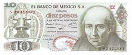 MEXICO 10 PESOS 1971 PICK 63d UNC - México