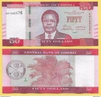 Liberia 50 Dollars P-34 2016 UNC - Liberia