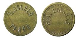 03539 GETTONE TOKEN JETON FICHA BEVERAGE KANTINE FLASCHEN PFAND PFANDMARKE BRASS - Allemagne