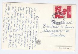 1960 BULGARIA COVER 60st FRUIT Stamps  (postard PLODIV) - Fruits