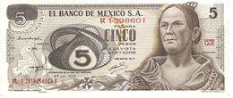MEXICO 5 PESOS 1972 PICK 62c UNC - Messico