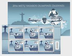 LITHUANIA 2016 XXXI Olympic Games - Stamp Booklet - Verano 2016: Rio De Janeiro