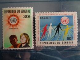 SENEGAL 1971 Y&T N° 345 & 346 ** - ANNEE INTERN. CONTRE LE RACISME & DISCRIMINATION - Sénégal (1960-...)