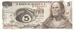MEXICO 5 PESOS 1972 PICK 62c UNC - Mexico