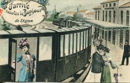 N°58604 -cpa J'arrive Recevez Le Bonjour De Digoin - Digoin