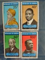 SENEGAL 1971 P.A. Y&T N° 100 à 103 ** - PRECURSEURS DE LA NEGRITUDES - Sénégal (1960-...)