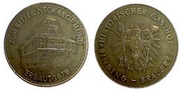 03738 GETTONE TOKEN JETON FICHA COMMEMORATIVE HISTORISCHER GASTHOF BINDING BRAUEREI ZUM RITTER NECKARGEMUND ERBAUT 1576 - Allemagne