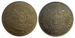 01648 GETTONE TOKEN JETON FICHA COMMEMORATIVE HISTORISCHER GASTHOF BINDING BRAUEREI HEILING GEIST MAINZ ERBATUM 1250 - Allemagne