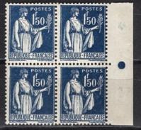FRANCE 1932 - BLOC DE 4 TP  Y.T. N° 288 - NEUFS**- /B27 - Ongebruikt