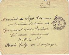 Lettre 11/10/1939 > Maréchal Des Logis LEHEUREUX 1ère Batterie D'obusiers De 611Division  Chasseurs Ardennais B.P.S. 31 - Guerre 40-45