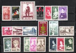 Sarre Lot Neufs ** - 1947-56 Protectorate