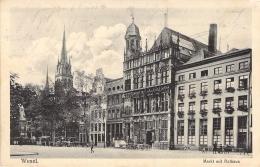Wesel S/w Gel.1916 Markt Mit Rathaus - Wesel