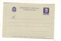 1936) Intero Postale Biglietto 50c Imperiale Nuovo - Interi Postali