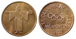 03831 GETTONE TOKEN JETON FICHA COMMEMORATIVE SPORT OLYMPIADE XX OLIMPISCHE SPIELE MUNCHEN 1972 - Allemagne