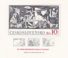 Ceskoslovensko 1973 Guernica By Picasso Souvenir Sheet MNH/** (H26) - Arte
