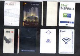 SET OF 8 HOTEL KEY CARD - Hotel Keycards