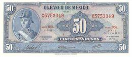 MEXICO 50 PESOS 1972 PICK 49u UNC - Mexico