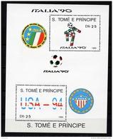 Sao Tome E Principe, 1989, Soccer World Cup Italy And USA, Football, MNH, Michel Block 193 - Sao Tome Et Principe